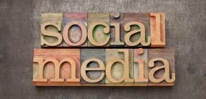 Social Media Wood Type